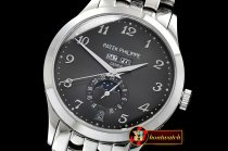 Patek Philippe Complication GMT Moonphase 5396G SS/SS Blk/Num MY9015