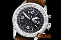 Oris Swiss Hunter Team SS/LE Black Jap Qtz Chrono
