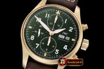 IWC Pilot Chrono Spitfire IW387902 Brz BR/LE Grn ZF A7750