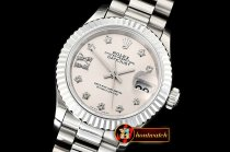 Rolex DateJust Ladies 28mm Pres Flt SS/SS Grey/St D BP A2671