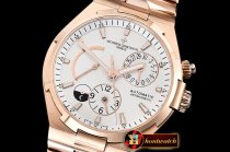 VACH. CONSTANTINE Overseas Dual Time Power Reserve RG/RG Wht TWA A1222