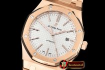 Audemars Piguet Royal Oak 15400 RG/RG White JF V5 MY9015 Mod 3120