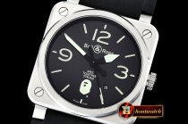 Bell&Ross BR03-92 42mm XXV Bathing Ape SS/RU Black MY9015