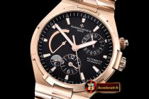 VACH. CONSTANTINE Overseas Dual Time Power Reserve RG/RG Blk TWA A1222