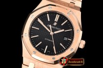 Audemars Piguet Royal Oak 15400 RG/RG Black OMF MY9015 Mod 3120