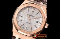 Audemars Piguet Royal Oak 15400 RG/LE (Brw) Wht OMF MY9015 Mod 3120