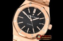 Audemars Piguet Royal Oak 15400 RG/RG Black JF V5 MY9015 Mod 3120