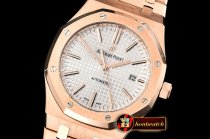 Audemars Piguet Royal Oak 15400 RG/RG White OMF MY9015 Mod 3120