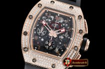 Richard Mille RM011-03 Flyback Chrono Diams RG/RU KVF A7750 Mod