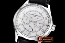 Vach. Constantine Traditionnelle Day-Date & Power Reserve SS/LE Wht A2475