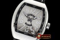 Franck Muller Vanguard PXL SS/NY Silver White/Num Asia 2824