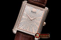 Piaget Emperador Diamonds DIAM/RG/LE Diams KZF Miyota 9015