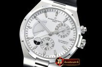 Vach. Constantine Overseas Dual Time Power Reserve SS/RU Wht TWA A1222