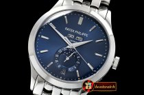 Patek Philippe Complication GMT Moonphase 5396G SS/SS Blue MY9015