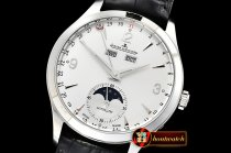 JAEGER LE COULTRE Master Ultra Thin Moonphase SS/LE Silver Wht KMF A2824