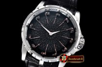 Roger Dubuis Knights of the Round Table II SS/LE Blk ZF Miyota 9015