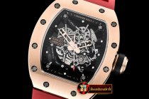 Richard Mille RM035-02 Americas RG/RU Red Skele Blk KVF MY8215 Mod
