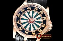 Roger Dubuis Knights of the Round Table I RG/LE Blk/Wht Asia Seagull