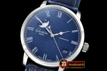Glashutte Excellence Panorama Date Moonphase SS/LE Blue GF A2824