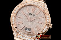 Piaget Polo Diamonds RG/LE Diam Rose G MKF Miyota 9015
