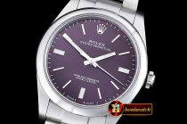 Rolex Oyster Pert. 39mm 114300 SS/SS Red Grape ANF A2836