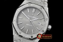 Audemars Piguet Royal Oak Jumbo 15400 Frosted SS/SS Grey Asia 21