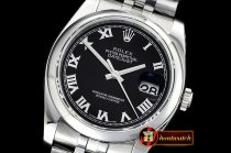 Rolex Datejust Man DJ 36mm Jub Dome 904L SS/SS Black Roman ARF A3135