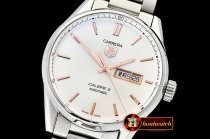 Tag Heuer Carrera Calibre 5 Automatic SS/SS Wht/RG ANF Asia 2824