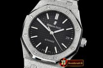 Audemars Piguet Royal Oak 37mm Frosted SS/SS Black JHF MY9015