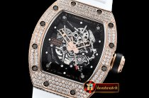 Richard Mille RM035-02 Americas Diams RG/RU Wht Skele KVF MY8215 Mod
