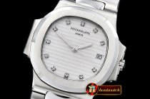 Patek Philippe Nautilus Ref.3800 Midsize SS/LE White Diams BP A2