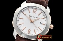 Bvlgari Octo Solotempo Automatic RG/SS/LE White Asia 23J Mod