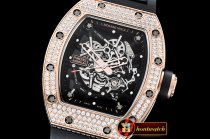 Richard Mille RM035-02 Americas Diams RG/RU Blk Skele KVF MY8215 Mod