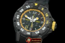 RM074C - PVD Black/RU Black/Yellow Asian 7751 Decorated