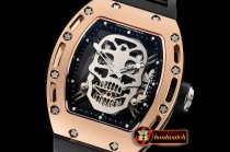 Richard Mille RM052 Tourbillon Skull RG/RU Skele Tourbillon