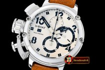 Replica UBoat Chimera Chronograph SS/LE Cream White A7750