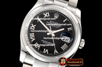 Rolex DateJust 36mm Oyst Dm 904L SS/SS Black/Rmn GMF SA3135