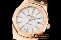 Audemars Piguet Royal Oak 15400 RG/LE White JF V5 MY9015 Mod 3120
