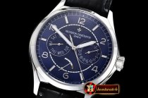 Vach. Constantine Traditionnelle Day-Date & Power Reserve SS/LE Blue A2475