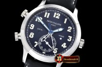 Patek Philippe Calatrava Pilot Travel Time 5524 SS/LE Blue GRF MY9015