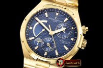 VACH. CONSTANTINE Overseas Dual Time Power Reserve YG/YG Blue TWA A1222