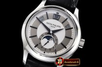 Patek Philippe Annual Cal. Moonphase Ref.5205 SS/LE Wht GRF MY9015
