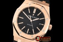 Audemars Piguet Royal Oak 15400 RG/LE Black JF V5 MY9015 Mod 3120