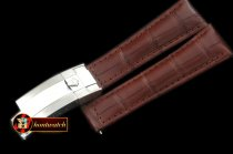Replica Rolex Brown Croc Strap SS 20/16/ New Insignia Deployant