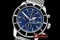 Breitling SuperOcean Heritage II Chronograph SS/SS Blue ANF A7750