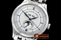 Patek Philippe Complication GMT Moonphase 5396G SS/SS Wht/Num MY9015