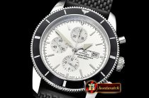 Breitling SuperOcean Heritage II Chrono SS/RU White/B OMF A7750