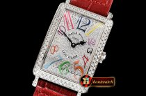 Franck Muller Long Island 952QZ DIAM/SS/LE (Red) Color GF Swiss Qtz
