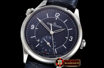 Jaeger Le Coultre Master Control Geographic Sector SS/LE Blue MY9015 Mod