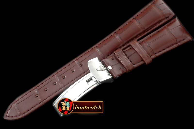 Replica Rolex Brown Croc Strap SS 20/16/ New Insignia